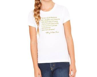 Girl Power Shirt / Never Doubt Hillary Shirt / Girl Power Tshirt / Pantsuit Nation Shirt / Feminist Shirt / Resist Shirt / Feminist Girl