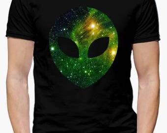 Shirt ALIEN Galaxy, man. Tumblr, Galaxy, Green alien...