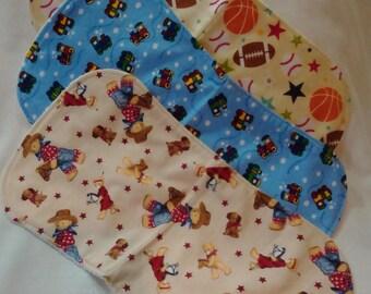 Burp Cloths - set of three