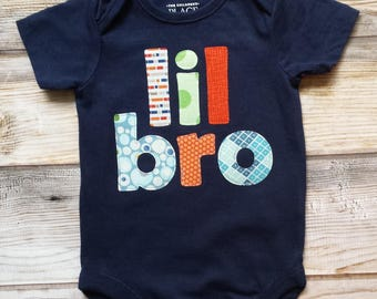 Lil Bro Bodysuit-Little Brother-Baby Brother Shirt-New Baby Boy-Little Brother Bodysuit-Lil Bro Shirt-New Baby Brother Bodysuit-New Brother
