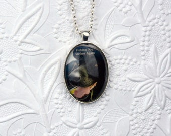 Personalized Photo Necklace with 30x40mm Cabochon Large Personalized Photo Pendant