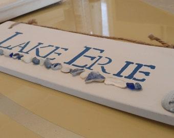 Lake Erie Plaque, Handmade