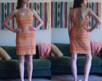 90s Spaghetti Strap Dress/Size 2-4