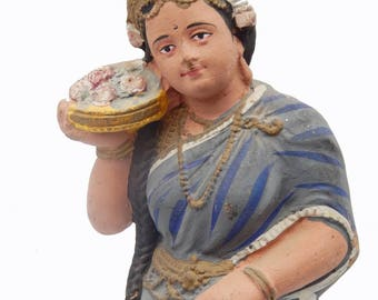 Statue terracotta Divali Kerala H = 43 cm India P14 South Indian deity