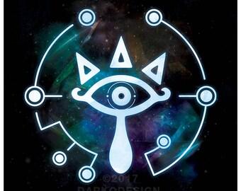 Legend of Zelda – Sheikah Eye signed video game wall art poster / fine art print