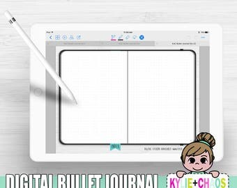 Digital DOT Bullet Journal for GoodNotes on IPhone and IPad with functioning Index