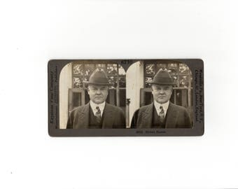 Herbert Hoover stereoview photo