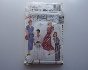 Sewing Pattern for women's dress Size 12 14 16 McCall's 6544 Easy