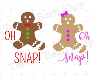 gingerbread svg or printable, oh snap svg, gingerbread man, gingerbread girl, svg/dxf/jpg, christmas clipart ugly christmas sweater svg
