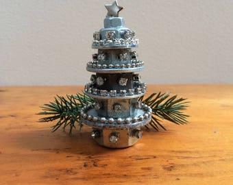 steampunk christmas tree industrial christmas tree rustic christmas tree primitive christmas tree - Metal Christmas Tree