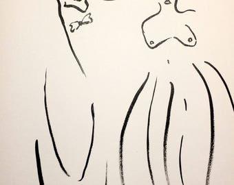 Ink, 15x21cm, original artwork