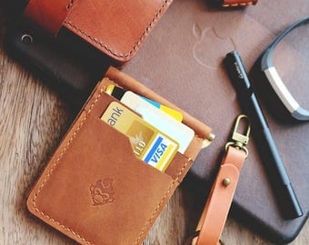 Leather Money Clip Wallet, Money Clips Wallet, Money Clip Card Sleeve, Card Wallet Money Clip