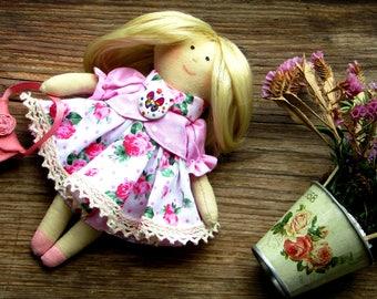 Handmade BABY doll- handmade dolls, fabric dolls, cloth dolls, rag doll cute doll