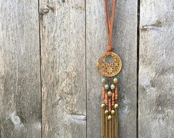 Dream Catcher Leather Necklace
