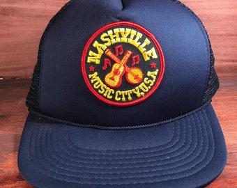 Nashville Music City U.S.A. Snapback Hat