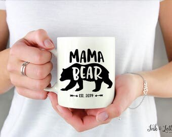 Mama Bear Mug - Gift for Mom - Mother's Day Gift - Birthday Gift for Mom - New Mom Gift - Typography Mug - Gift for Her - Coffee Cup -