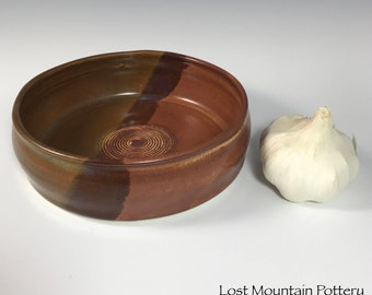 Garlic Grater Dish, Oil Dipping Dish, Ginger Grater Plate, Large Garlic Grater Bowl, Stoneware Garlic Grater Plate B19