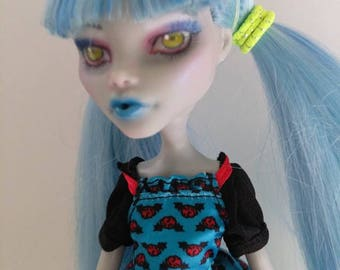NEW! Monster High Repaint Ghoulia Freaky Fusion OOAK Art Doll