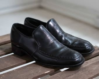 Barker Black Leather Slip-on Shoes (Made in England)