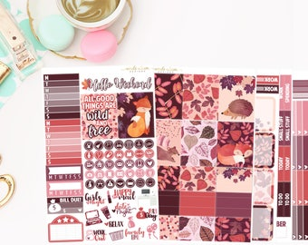 Wild and Free Deluxe Kit, planner stickers