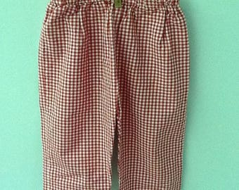 12 Month ?, Red and White Checked Pants