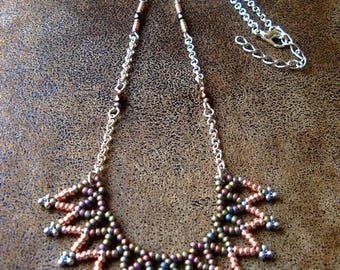 Boho necklace ~ necklace ~ * unique * ~ Long necklace ~ geometric ~ beadwork