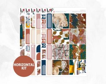 Sundays Horizontal Kit | Matte Glossy Planner Stickers