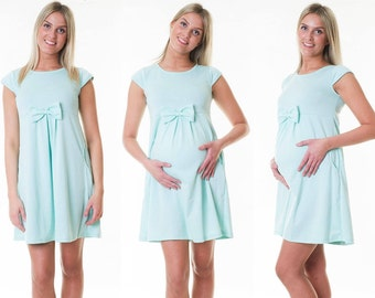 Dress maternity dress loop Summerdress of maternity dress Mint