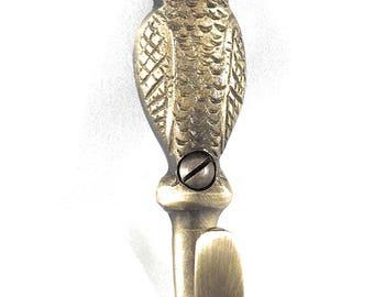Brass Owl Key Hook