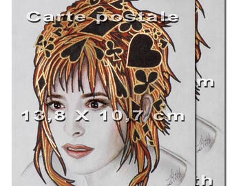 2 postcards. Portrait of Mylène Farmer