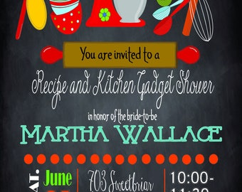 Kitchen Gadget Shower Invitation