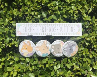 Forest Friends - Button Pack