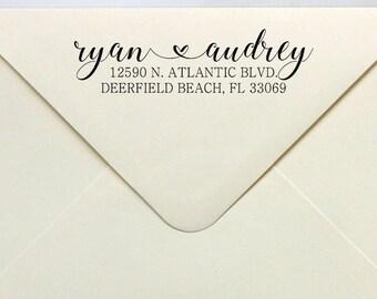Love Address Stamp, Mr & Mrs Address Stamp, Wedding Custom Rubber or Self Inking Stamp, Personalized Rubber or Self Inking Stamp