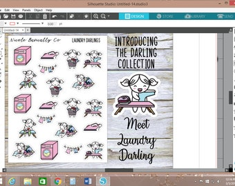 Laundry Darlings Planner Stickers