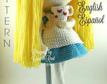 Alice - Amigurumi Doll Crochet Pattern PDF