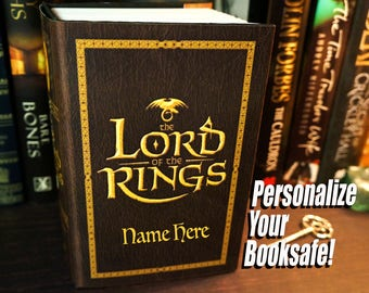 Lord of the Rings Box Hollow Book Safe Husband Birthday Book Lover Gift Stash Box Mens Personalized Boyfriend Gift for Men Brother Gift LOTR