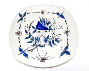 Stavangerflint - Large ceramic dish - hand-painted by Inger Waage - Made in Norway.