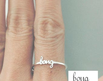Dainty Name Ring, Name Ring, Personalized Ring, Tiny Name Ring, Stacking Ring, Stackable Name Ring, Personalized Gift, Custom Name Ring