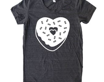 Donut Heart Women's Valentines Day Shirt, Valentines day T shirt, Mommy and Me T shirt, Heart T shirt, valentines day outfit, donut shirt