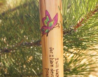 Scripture Sticks/Confirmation Gift/Hiking Sticks with Scripture Verses/Hymn Sticks/Hiking Sticks/Walking Sticks/Easter Gift