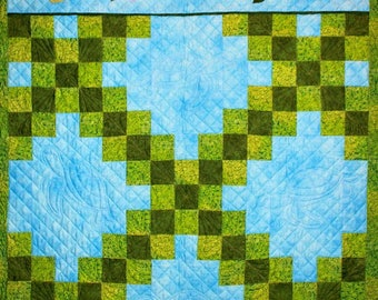 Turtle Tag-A-Long Quilt:  Quilting Pattern, from Cheri Leffler Design
