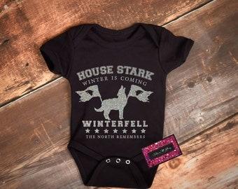 Geek Baby Onesie - House Stark Winter Is Coming