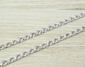 "Rhodium Filled White Gold Filled Chain 19"" Inch CS12"