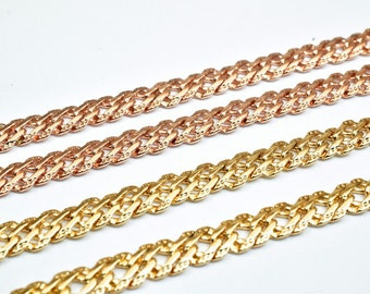 18K Gold/Rose Gold Filled Chain 5mm width 1.5mm Thickness CG228 & CG229