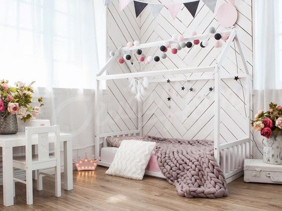 nursery bed frame bed play house house bed bed home home. Black Bedroom Furniture Sets. Home Design Ideas