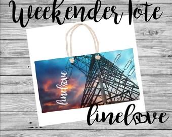 Lineman's Wife Weekender Linelove Tote Linewife Bag