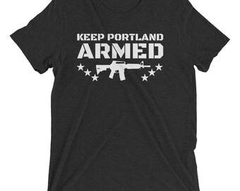 Keep Portland ARMED (tri-blend tee)