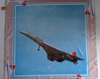 British Airways Concorde souvenir scarf perfect condition 66 x 66 cm