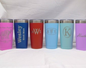 20 oz. Vacuum Insulated Stainless Steel Tumbler with Lid - Laser Engraved - Personalized/Custom Logo - BPA Free