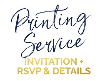 Professional Printing Service |  Invitation + Reply + Details
